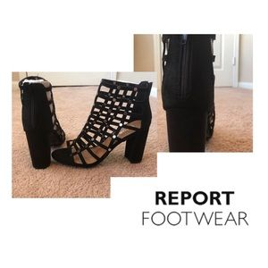 NWOB REPORT Black Suede shoes